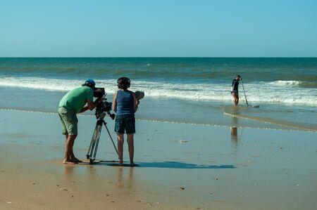 Cameraman with digital cinema camera