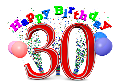 Gelukkige Verjaardag met ballons en de leeftijd