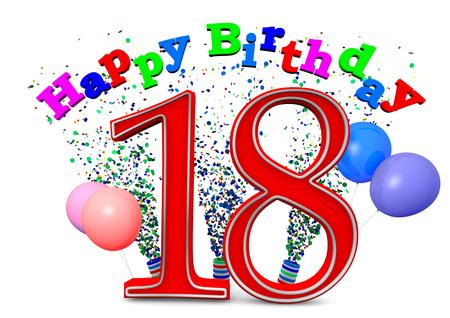cadeau anniversaire: Joyeux anniversaire avec les ballons et l'�ge