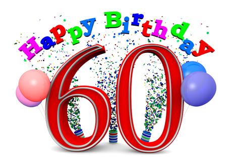 Joyeux anniversaire avec les ballons et l'âge Banque d'images - 23357130