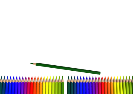 gab: line of crayons with a gab