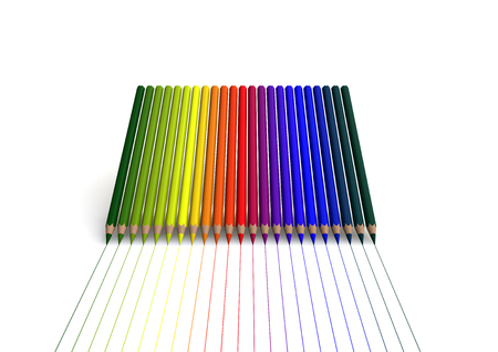 crayons with linear color trace photo