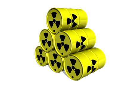plutonium: yellow barrel with radiation sign