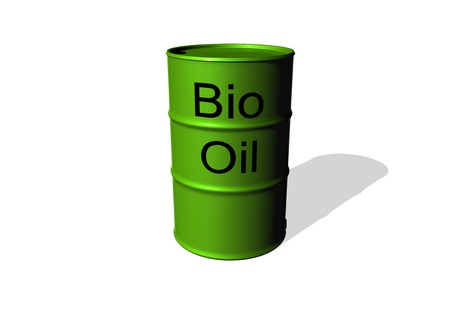 isoliert: a bio oil barrel Stock Photo