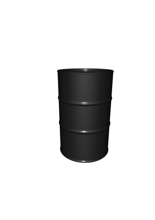 a black metalic barrel with reflections