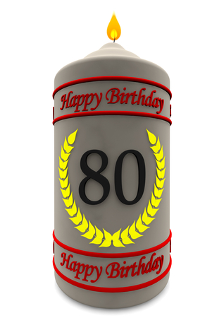 birthday candle with the age Stock Photo