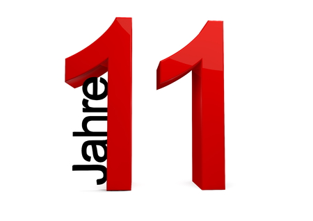 eleventh birthday: a number with the caption Jahre