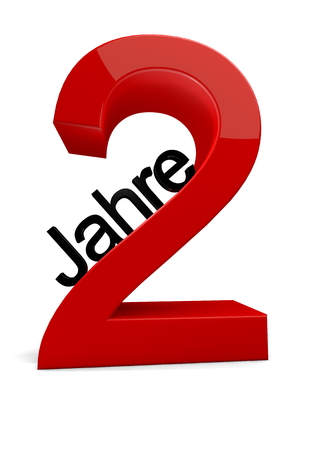 second birthday: a number with the caption Jahre