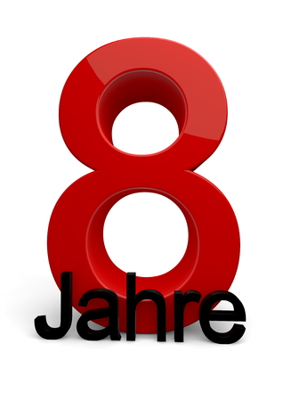 a number with the caption Jahre photo