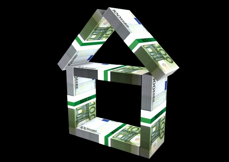 isoliert: a house made of money