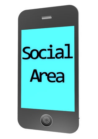 isoliert: a phone with the lettering Social Area Stock Photo