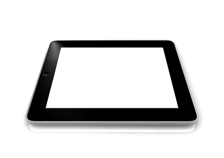 isoliert: a tablet blanko Stock Photo