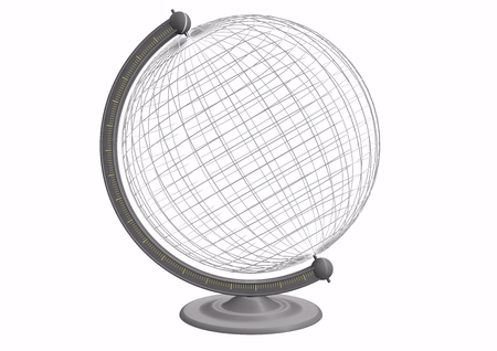 a empty globe with grid photo