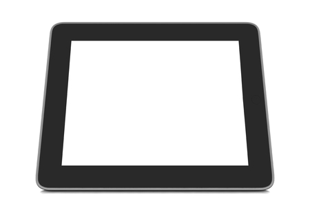 isoliert: a tablet blanko strong flipped horizontally