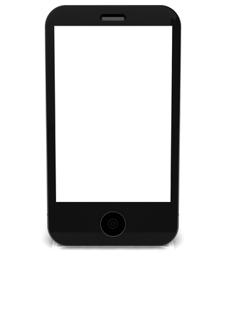 isoliert: a phone blanko stand vertically Stock Photo