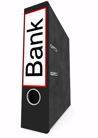 a file with german lettering bank photo
