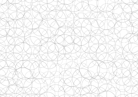bedlam: a chaos texture made of circulars in black with white background