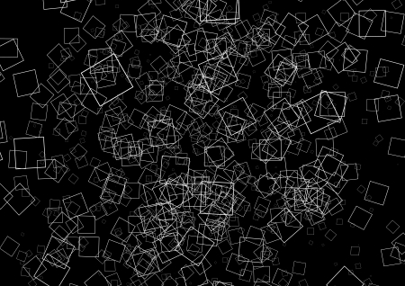quadrat: a texture made of squares in black and white Stock Photo