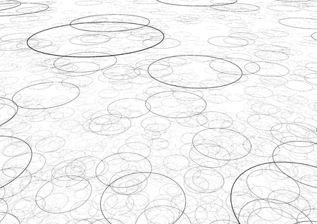 bedlam: a texture made of circulars in black with white background