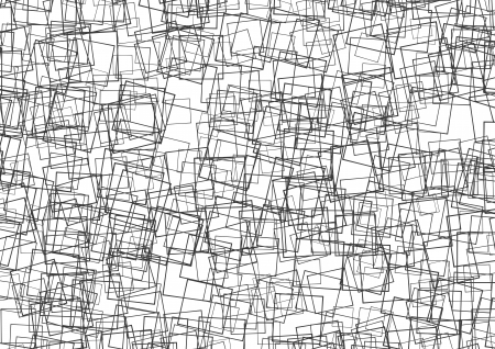 isoliert: a texture made of squares in black and white Stock Photo