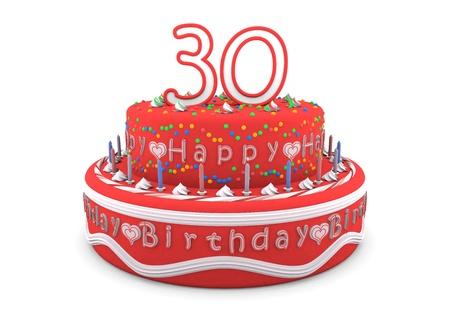 Alles Gute Zum Geburtstag Rote Beschriftung In Einem Grauen Kreis Um
