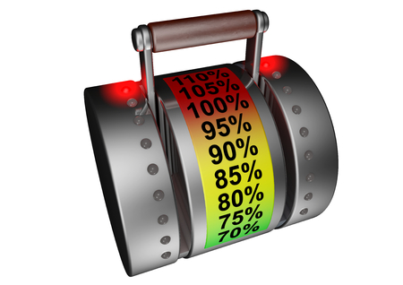 a power regulator is on 110 percent