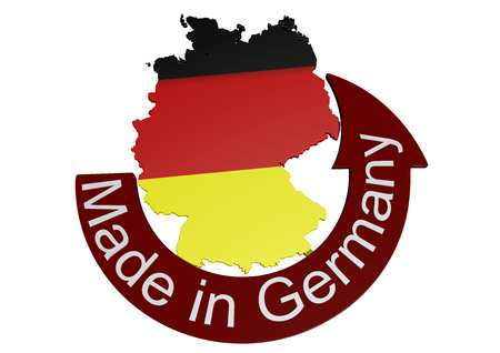 germany with flag texture und lettering Made in Germany photo