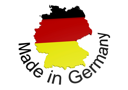 germany with flag texture und lettering Made in Germany Stock Photo - 23972962