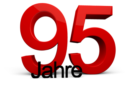 95: large red number with Jahre