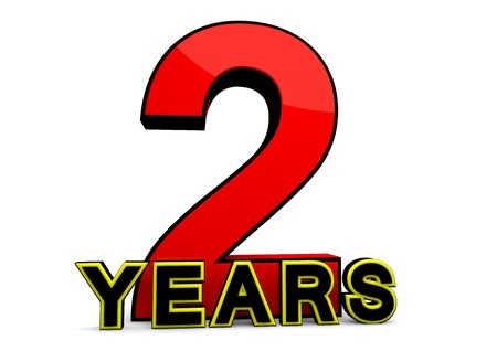 felicitate: A large red number behind the word YEARS