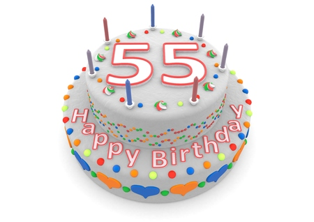 felicitate: a white birthday cake with the age and happy birthday