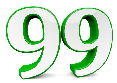 big green number 99 Standard-Bild