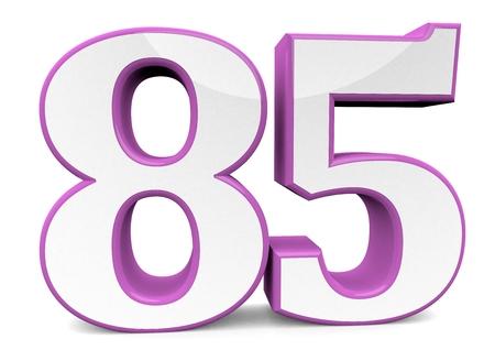 big number in pink