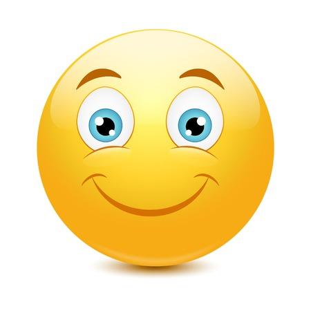 Emoticon with big toothy smile. Vector