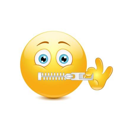 Emoticon che zippano l'illustrazione di vettore Archivio Fotografico - 91681156