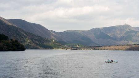 Lake Ashi (Ashi-no-ko) in Hakone, Ashigarashimo District, Kanagawa Prefecture, Japan.