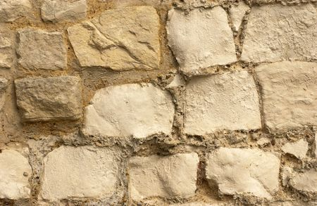 16th: Section of a partly restored 16th century chalk wall.