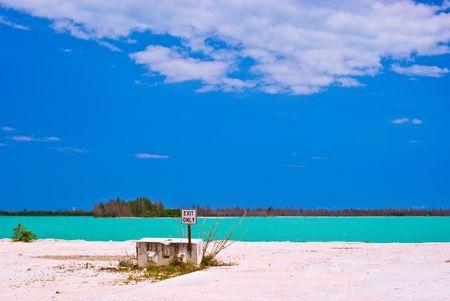 South Florida Limestone Quarry With Aqua-Colored lake