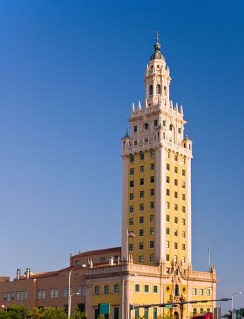 freedom tower: Miami Freedom Tower, Historical Symbol of Cuban Immigration Stock Photo