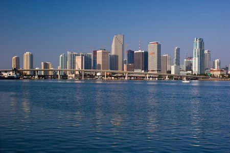 Miami Morning Bayfront Skyline