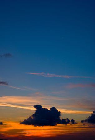 Beautiful Sunset or Sunrise Cloudscape