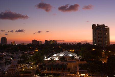intercoastal: Florida Intracoastal Waterway Marina at Fort Lauderdale at Dawn