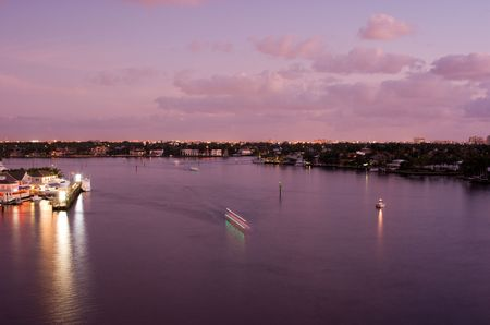 Florida Intracoastal Waterway at Fort Lauderdale at Dawn  photo