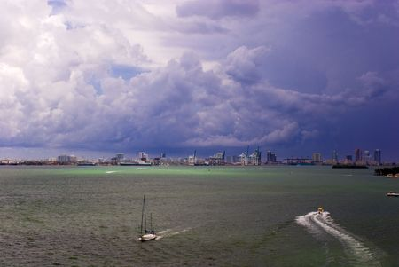 Biscayne Bay and Port of Miami