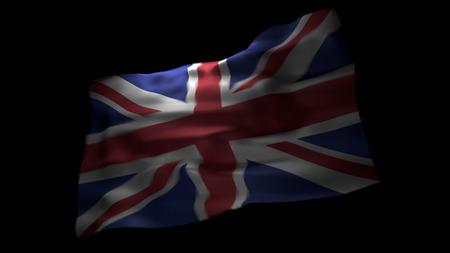 A British flag against black