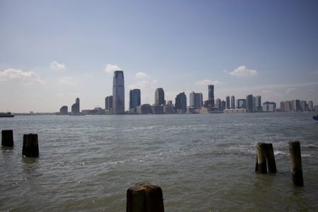 View of jersey city from the old battery park pontoon Stock Photo - 82415140
