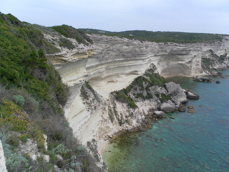 Corsica cliff in Bonifacio Stock Photo