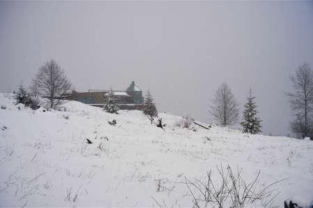 Het bezoekerscentrum van Coldwater Ridge bij Nationaal Park Mount Saint Helens in de staat Washington