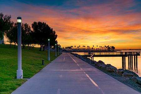Dawn in Long Beach, California