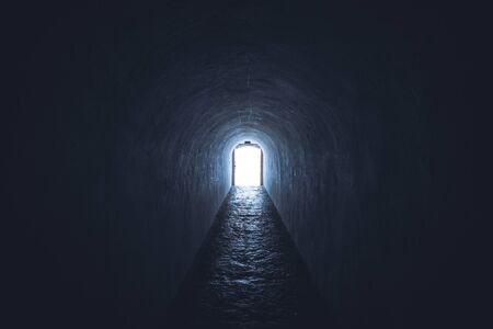 light at end of the tunnel afterlife death concept
